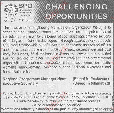Strengthening Participatory Organization (SPO) jobs
