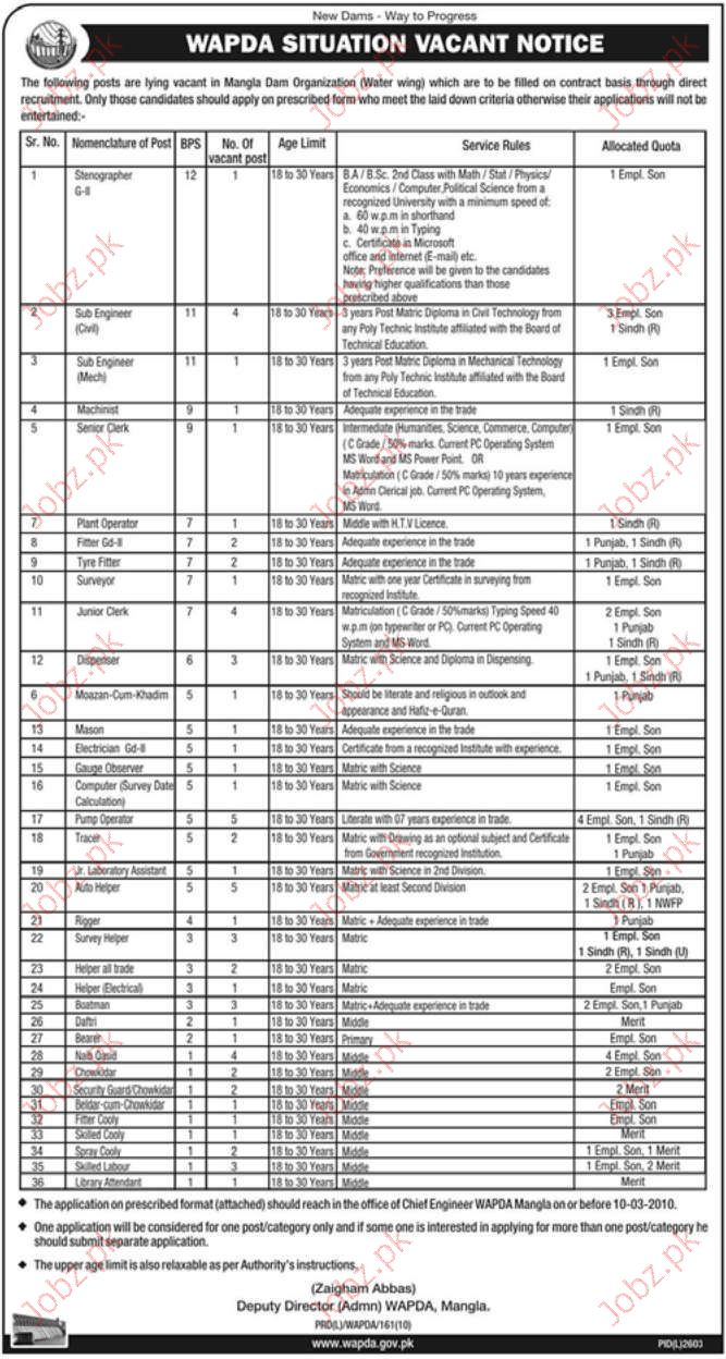 wapda job opportunities 2019 job advertisement pakistan