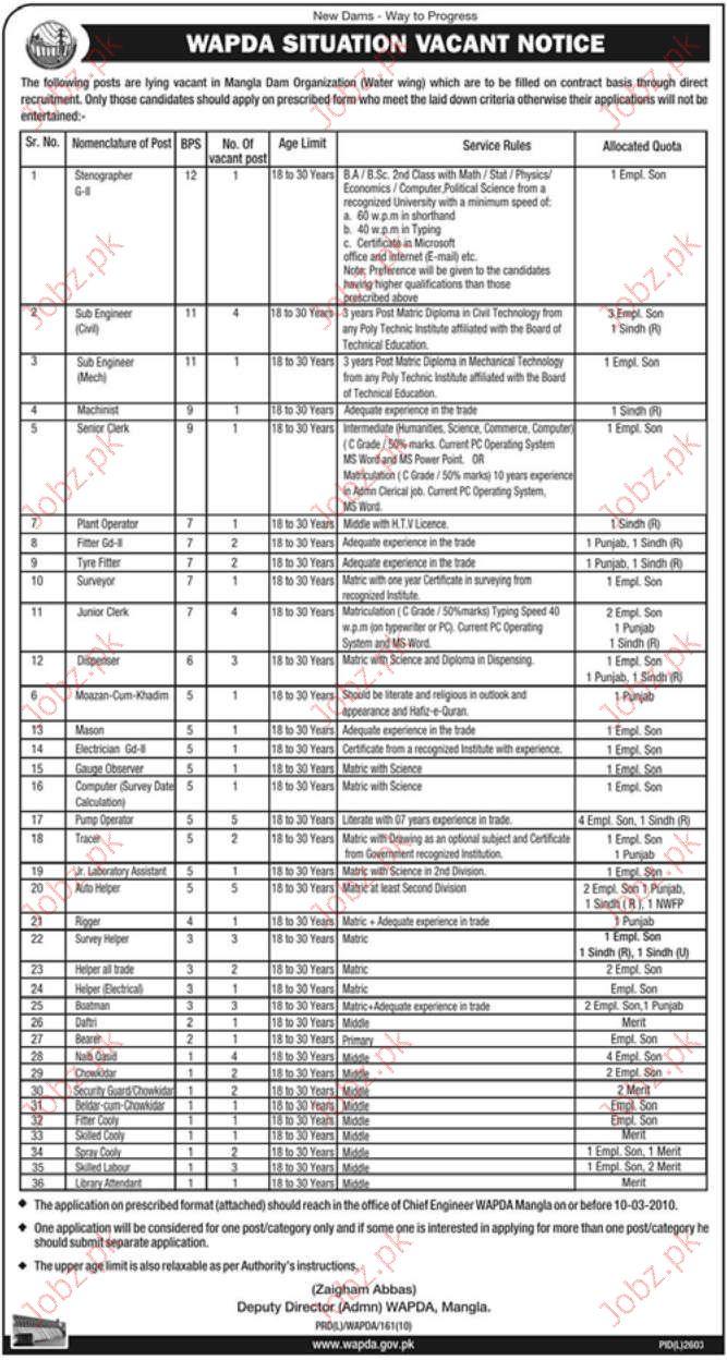 wapda job opportunities 2019 job advertisement pakistan