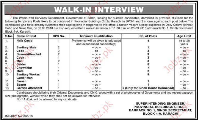 Provincial Buildings Division Job Opportunities