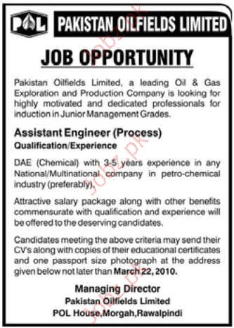 Pakistan Oil Field Limited Job Opportunities 2019 Job