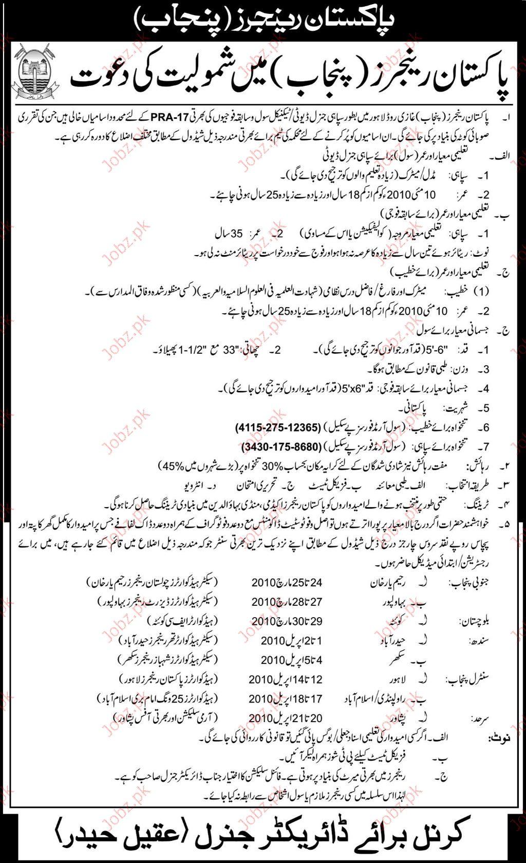 Pak Army Jobs 2018 Latest Apply Online (Registration)