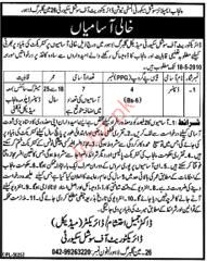 Dispenser Required in Punjab Employees Social Secuirty