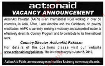 Actionaid Pakistan Job Opportunities