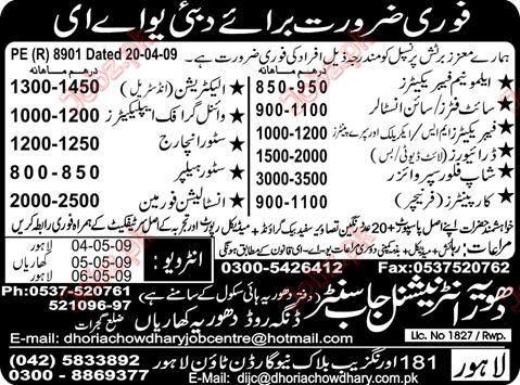 Dubai & UAE Staff Required