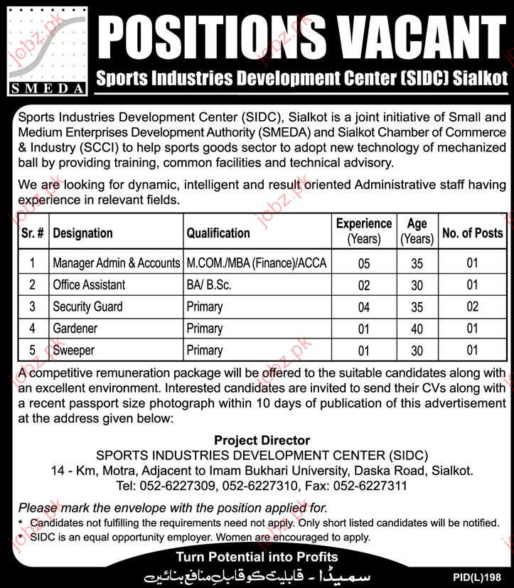 SMEDA Pakistan Job Opportunities