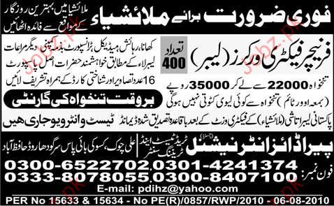 Furniture Factory Worker and Labor Required
