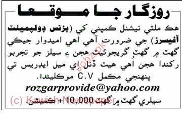 Business Development Officer Job Opportunity