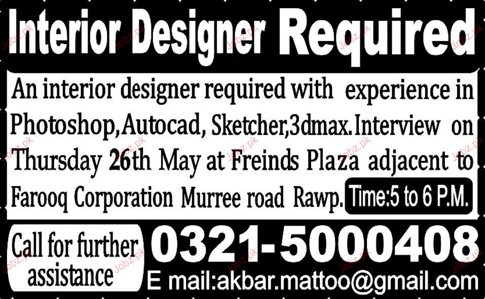 Interior Designer Job Opportunity