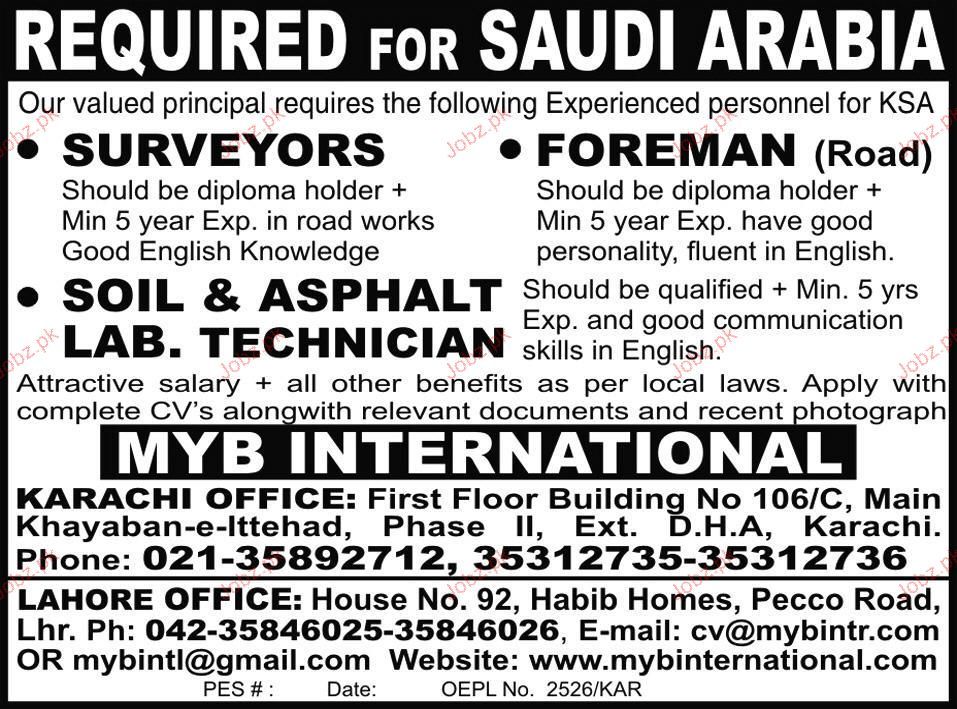 surveyor foreman soil asphalt lab tech job opportunity