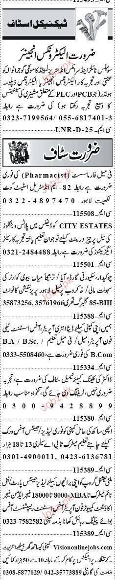 Technical Staff, Data Entry Operator Job Opportunity