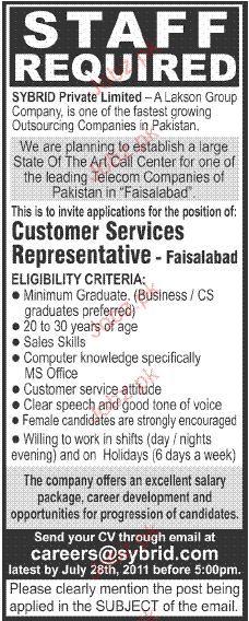 Customer Services Representatives Job Opportunity
