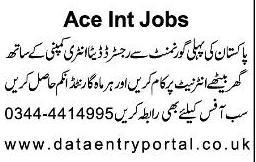 Jobs for data entry in Govt. register Company.