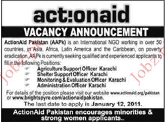 Agriculture Support Officer, Monitoring & Evaluation Officer
