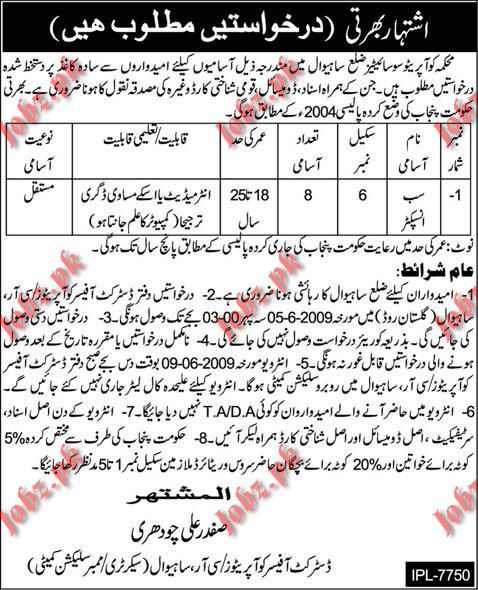 District Office Co-Operators Jobs