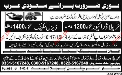 Tralla Driver and Diesel Mechanic Job Opportunity