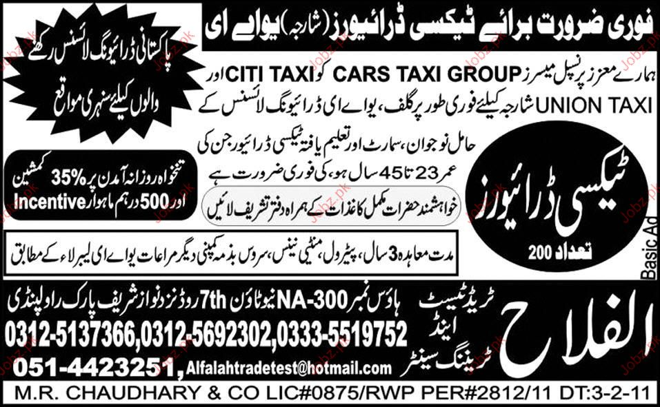 Taxi Driver Required