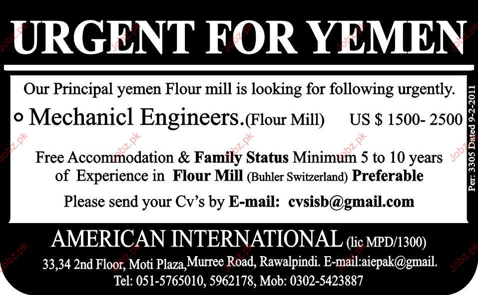 Mechanical Engineer Job Opportunity