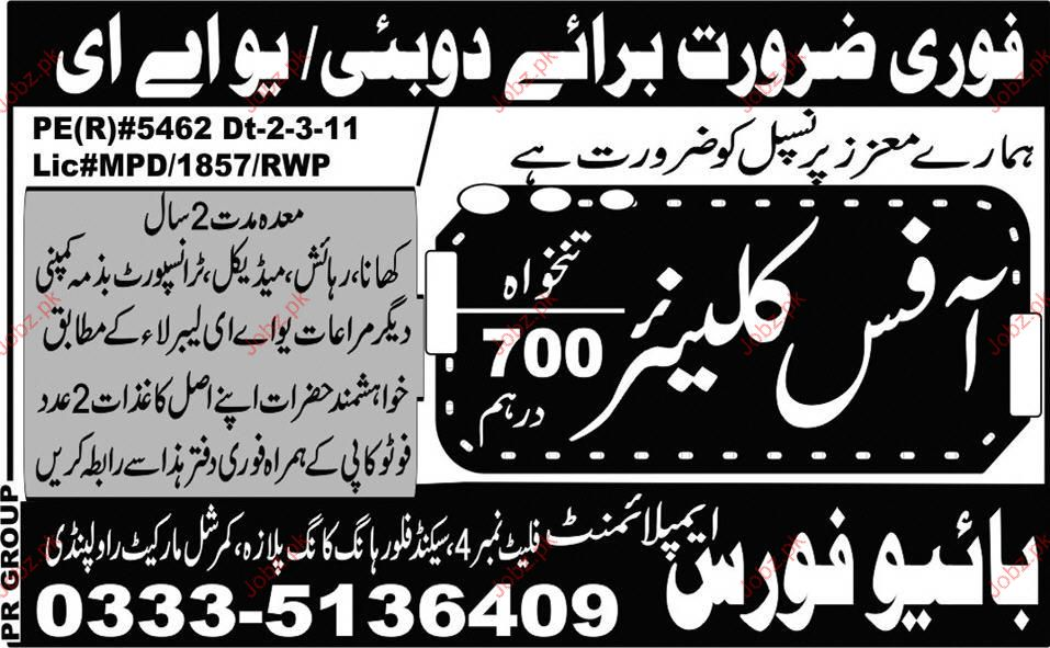 Office Cleaner Job Opportunity