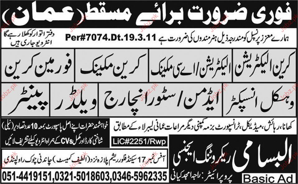 Crane Electrician, AC Electrician, Foreman Crane Required