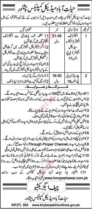 Electronic Engineer, Medical Engineer &Charge Nurse Required