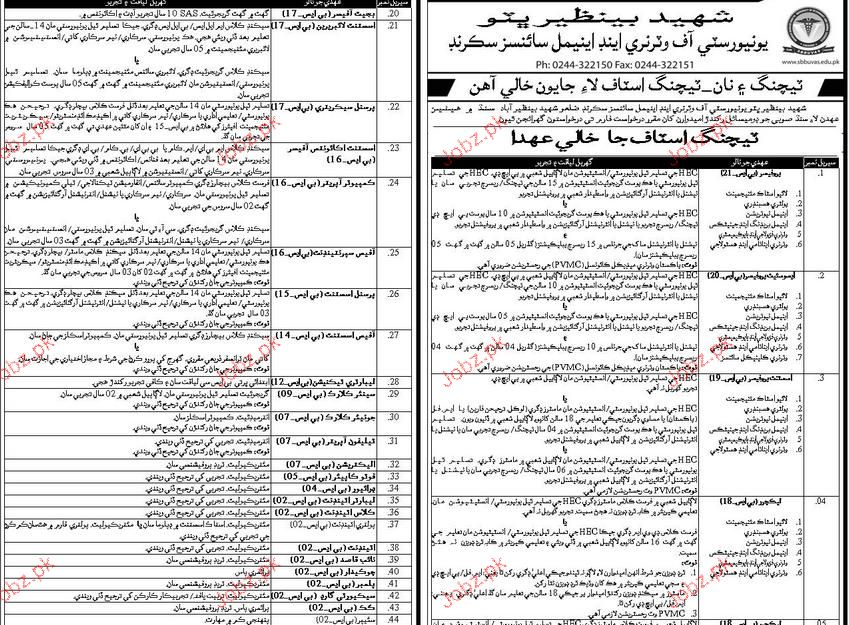 Assistant Professor,  Controller of Examination Wanted