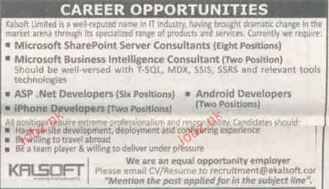 Microsoft Sharepoint Server Consultant Wanted