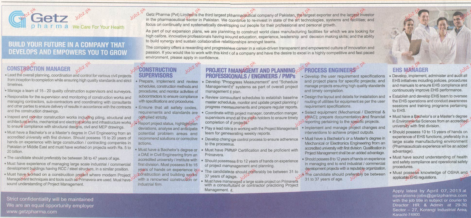 Project Manager, Construction Supervisors Wanted