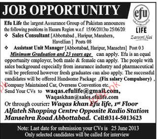 Sales Consultants and Assistant Unit Manager Required