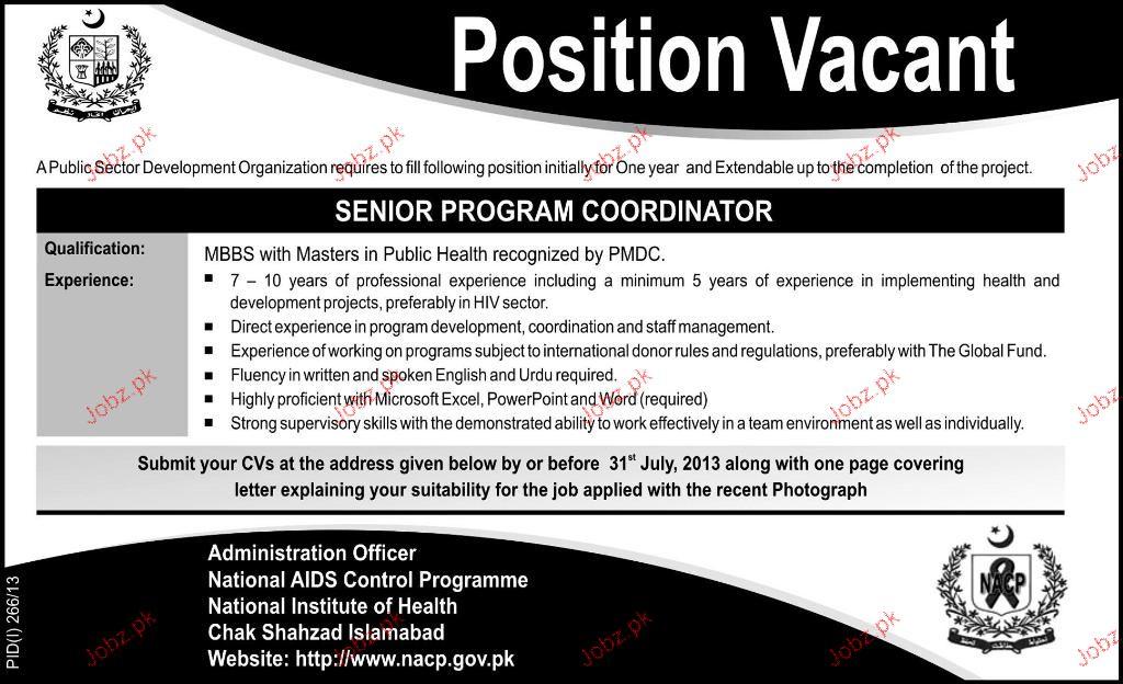 Senior Program Coordinator Job Opportunity