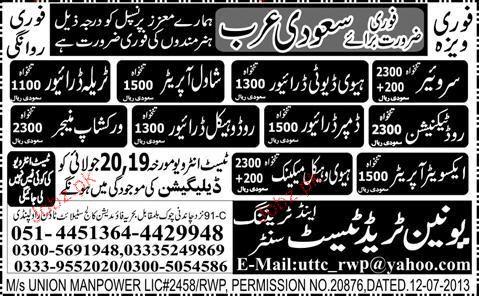 Surveyors, Heavy Duty Drivers, Road Technicians Wanted