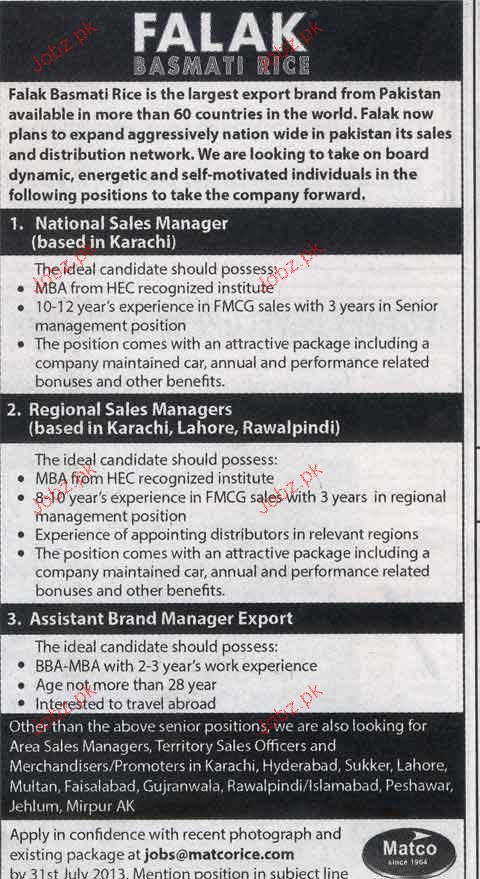 National Sales Manager, Regional Sales Manager Wanted