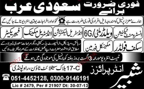 Instrument Technicians, Industrial Electricians Wanted