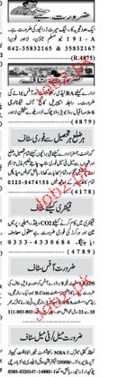 Naw e Waqat Classified Lady Receptionist Job Opportunity