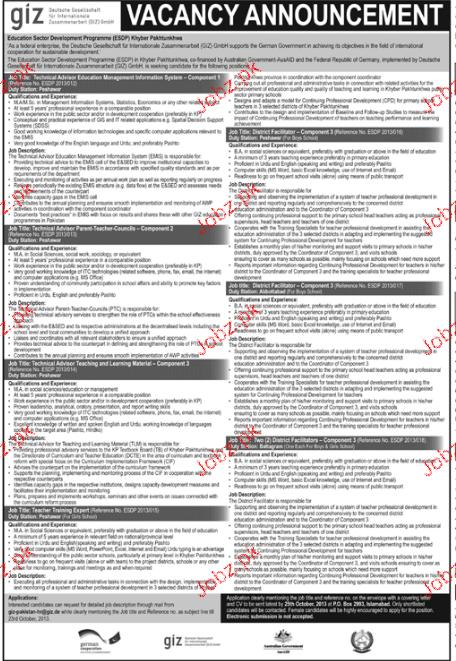 Junior Technical Advisors Jobs Opportunity