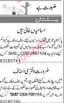 Express Classified Male / Female Staff Job Opportunity