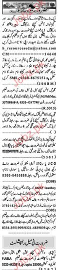 Naw e Waqat Classified Accounts Clerks, Manager Wanted