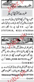 Naw e Waqat Classified Auto Cad Operators Wanted
