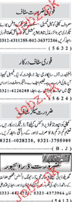 Naw e Waqat Classified Assistant Manager Wanted