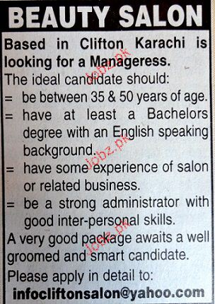 Managers Job Opportunity