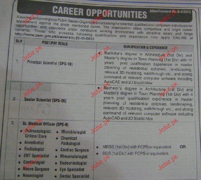 Principal, Senior Scientist Jobs in Pakistan Atomic Energy