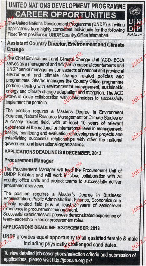 Procurement Manager and Assistant Country Director Wanted