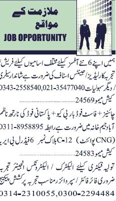 Jang Classified  Electronics Engineers  Job Opportunity