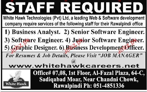Business Analsyst,  Senior Software Engineer Wanted