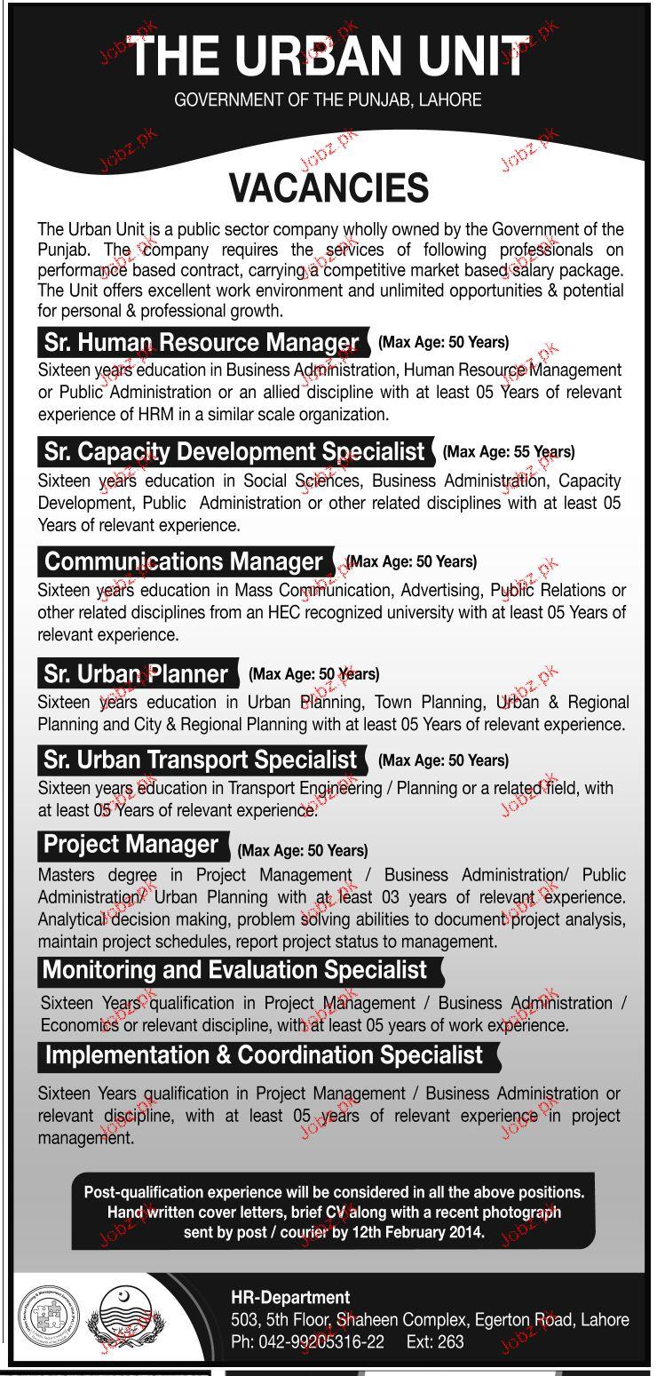 Senior Urban Planners, Communication Manager Job Opportunity