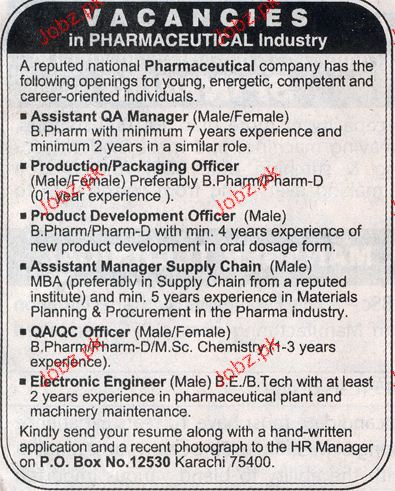 Assistant QA Manager, Packing Manager Job Opportunity