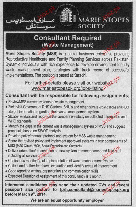 Consultants Job Opportunity