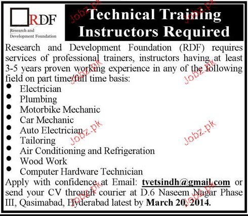 Electricians, Plumbers, Car mechanics Job Opportunity