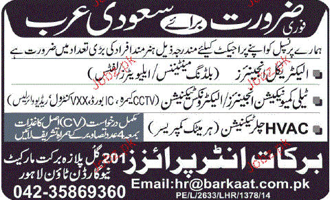 Electrical Engineers, Telecommunication Engineers Wanted