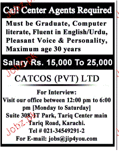 Call Center Agents  Job Opportunity